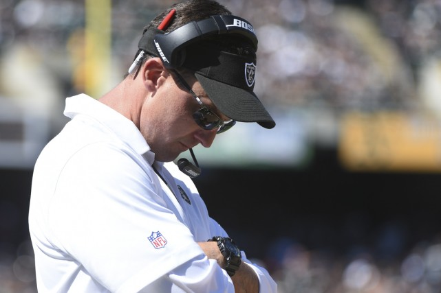 Dennis Allen a été congédié lundi après avoir... (PHOTO Kyle Terada, USA TODAY Sports)