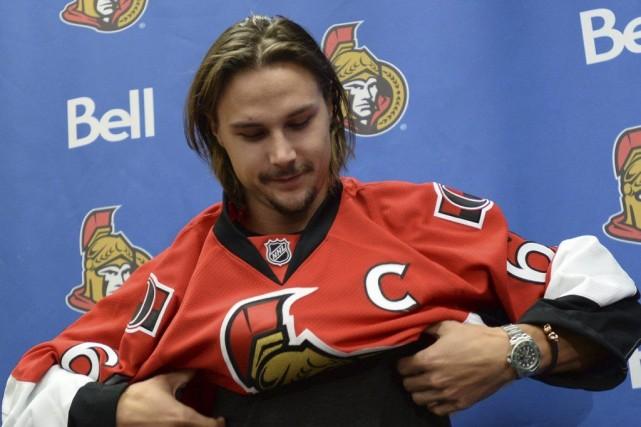 Erik Karlsson a été nommé capitaine des Sénateurs... (Sean Kilpatrick, Archives La Presse Canadienne)