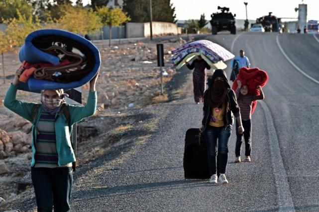 L'offensive des djihadistes dans la région de Kobané... (Photo: AFP)