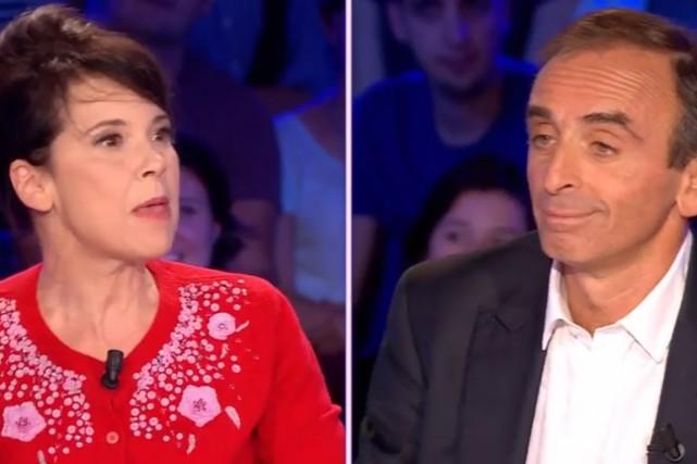 Anne Dorval etÉric Zemmour... (Image tirée de YouTube)