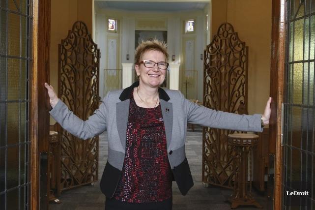 Chantal Beauvais est la rectrice de l'Université Saint-Paul... (Patrick Woodbury, LeDroit)