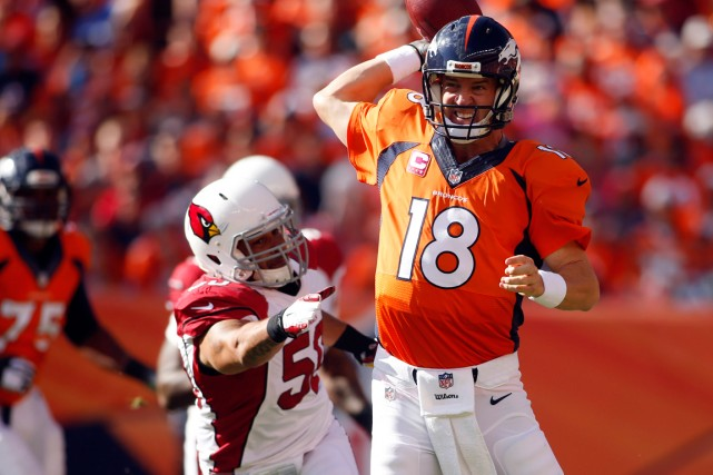 Peyton Manning a pleinement profité dimanche des quatre... (Photo Chris Humphreys, USA Today Sports)