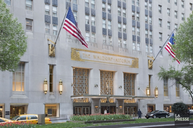 L'hôtel Waldorf Astoria... (PHOTO ARCHIVES LA PRESSE)