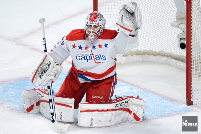 Le gardien Braden Holtby, des Capitals de Washington,... (Photo Bernard Brault, archives La Presse)