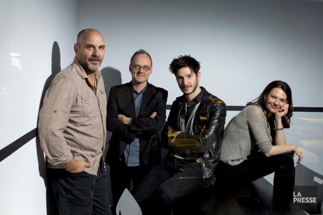 Sylvain Marcel, Pierre Verville, Éric Bruneau et Fanny... (Photo: Alain Roberge, archives La Presse)