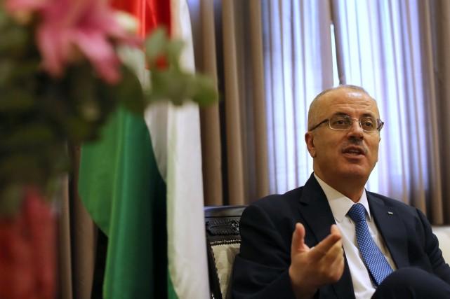 Le premier ministre palestinien Rami Hamdallah, à Ramallah,... (PHOTO ABBAS MOMANI, ARCHIVES AFP)