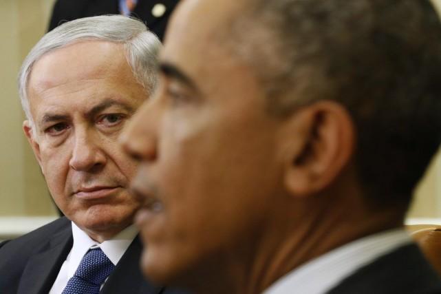 Le président Obama a rencontré M.Nétanyahou à la... (PHOTO KEVIN LAMARQUE, REUTERS)