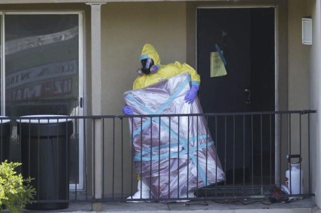 La désinfection de l'appartement où a séjourné le... (LM Otero)