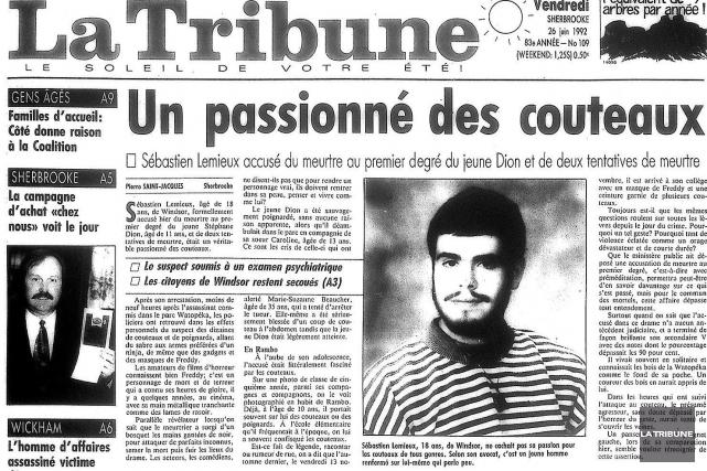 Vingt-deux ans après avoir assassiné froidement le jeune Stéphane Dion en... (Archives La Tribune)