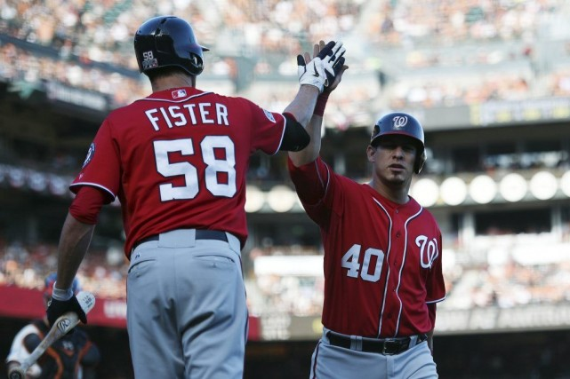 Doug Fister n'a permis que quatre simples en sept manches et les Nationals de... (Photo: Reuters)