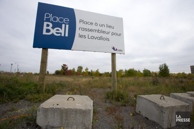 Site de la future Place Bell.... (PHOTO FRANÇOIS ROY, ARCHIVES LA PRESSE)