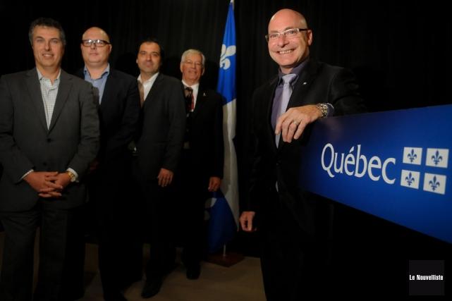 Benoît Hogue, président de Seficlo , Philippe Labelle,... (Photo: François Gervais, Le Nouvelliste)