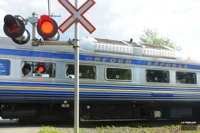Conscient de ce qu'apporte l'Orford Express à l'industrie touristique locale,... (Archives La Tribune, Jessica Garneau)