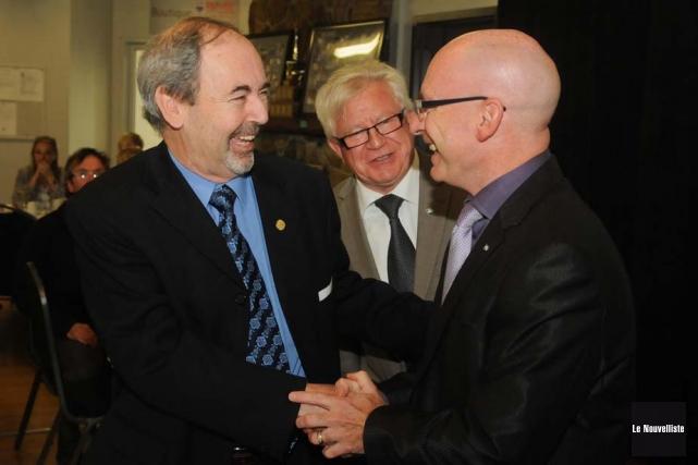 Le ministre Jean-Denis Girard était l'invité de la... (Photo: François Gervais, Le Nouvelliste)