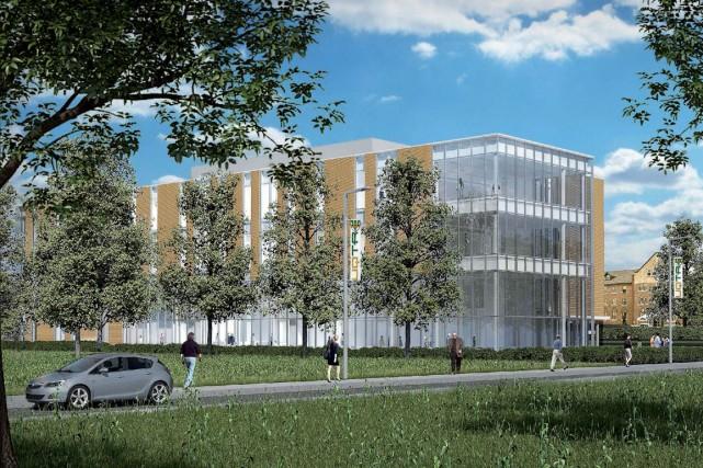 Le futur campus sera construit sur les terres... (Photo fournie)