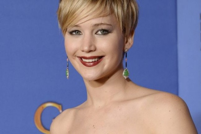 Jennifer Lawrence en janvier dernier.... (Photo: archives AFP)