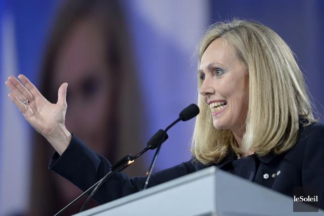 Monique F. Leroux, présidente du Mouvement Desjardins... (Le Soleil, Jean-Marie Villeneuve)