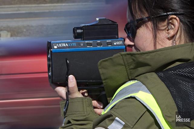 La Sûreté du Québec intensifie ses opérations routières samedi et dimanche,... (PHOTO ARCHIVES LA PRESSE)