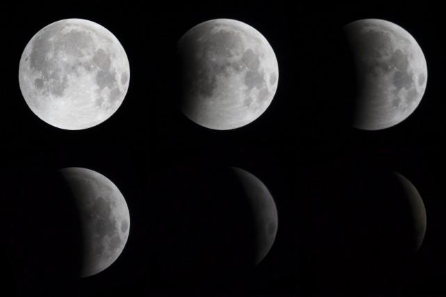 L'éclipse lunaire totale... (La Presse Canadienne)