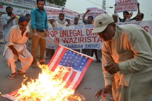 Les attaques de drones américaines sont fort impopulaires... (Photo: AP)