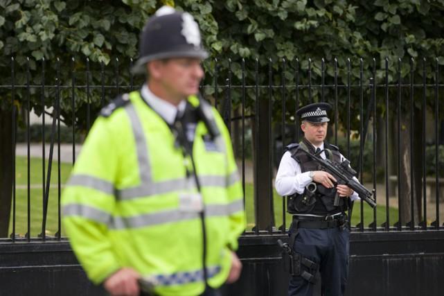 La police et leService de sécurité britanniques ont annoncé avoir déjoué le... (Archives AFP)