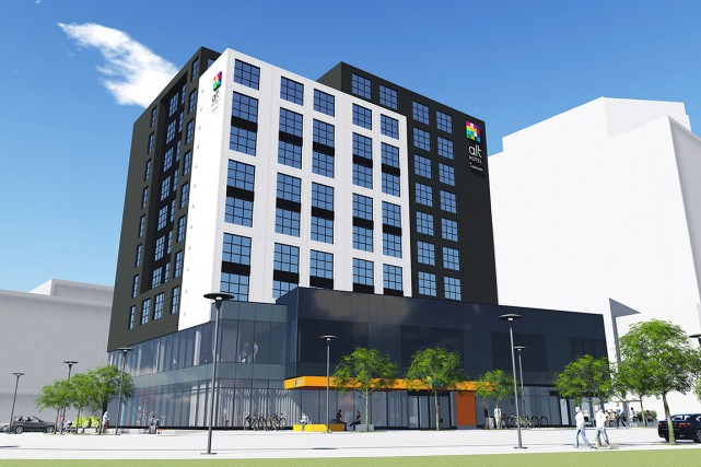 L'immeuble de 11 étages, prévu au coeur du... (Photo fournie par Groupe Germain Hospitalité)
