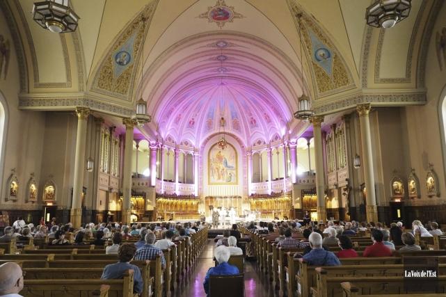 Le projet de conversion de l'église Notre-Dame en... (photo archives La Voix de l'Est)