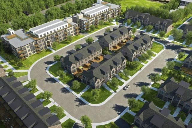 Highlands LaSalle comprendra des maisons en rangée ainsi... (Illustration fournie par le Groupe Quorum)