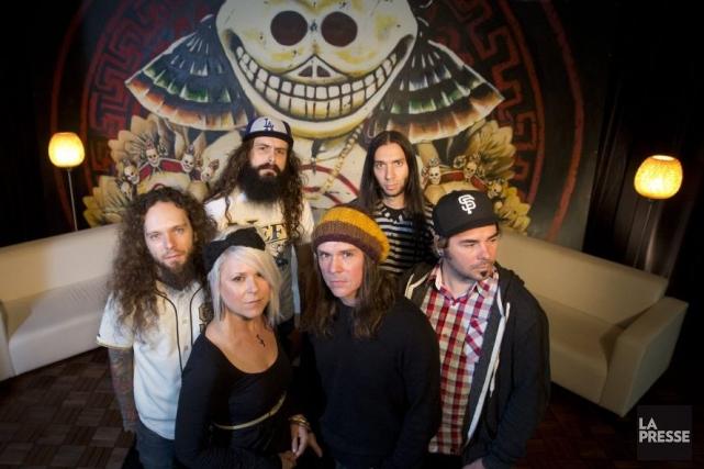 Le groupe Your Favorite Enemies, formé de Miss... (Photo: Ivanoh Demers, La Presse)