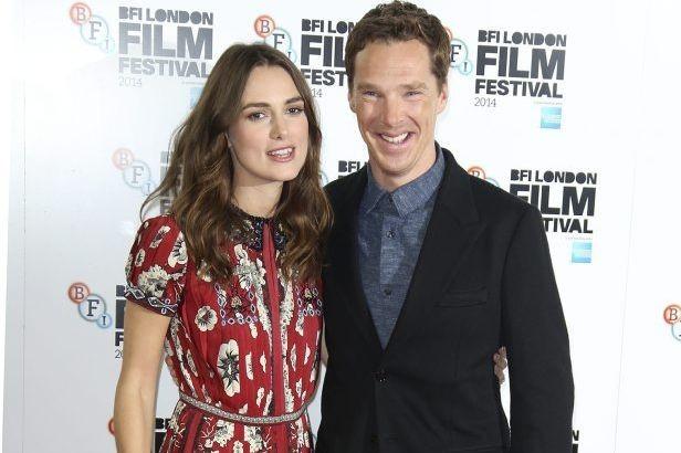 Keira Knightley et Benedict Cumberbatch ont foulé le... (Photo: AP)