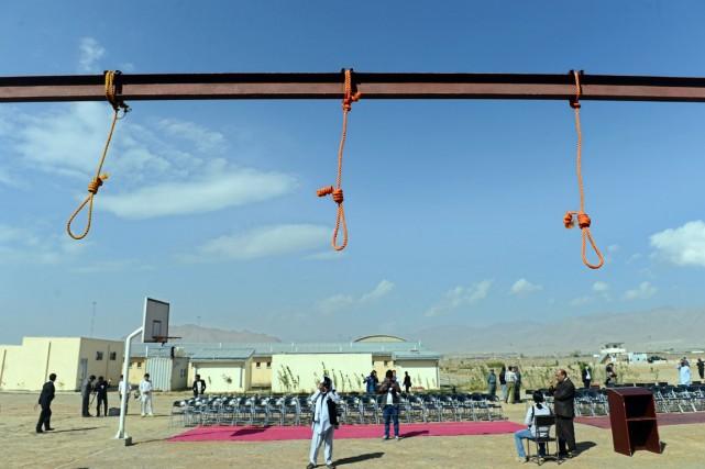 Les exécutions ont eu lieu à la prison... (PHOTO WAKIL KOHSAR, AFP)