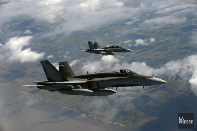 Des avions CF-18 de l'armée canadienne... (Photo archives Reuters)
