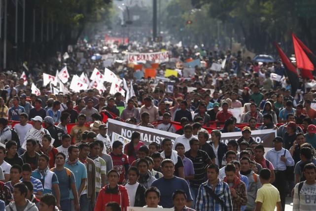 Le gouvernement mexicain est confronté à une pression... (Photo: Reuters)
