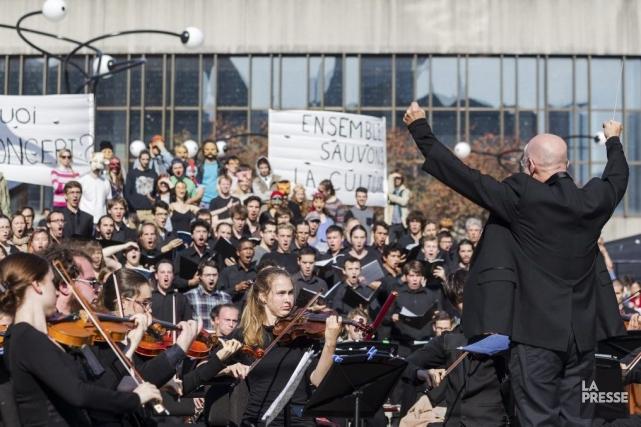 Des étudiants du Conservatoire de musique de Montréal... (Photo: Édouard Plante-Fréchette, La Presse)