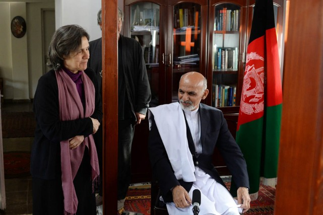 Rula Ghani, Bibi Gul de son nom afghan,... (PHOTO WAKIL KOHSAR, ARCHIVES AFP)