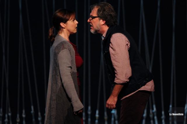 Maude Guérin et Christian Bégin livrent un intense... (Photo: François Gervais, Le Nouvelliste)