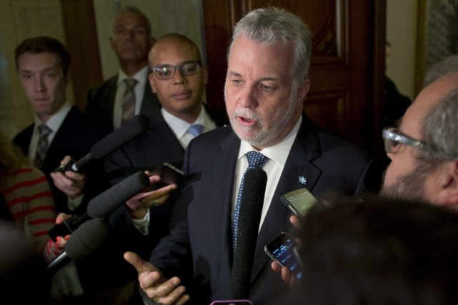 Le premier ministre Philippe Couillard a indiqué jeudi... (La Presse Canadienne, Jacques Boissinot)