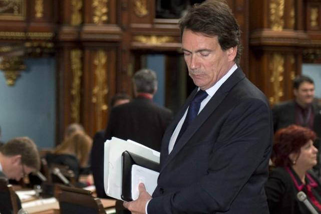 Pierre Karl Péladeau au moment du vote de... (La Presse Canadienne, Jacques Boissinot)