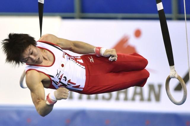 Le gymnaste japonais Kohei Uchimura a remporté tous... (Photo Kazuhiro Nogi, AFP)
