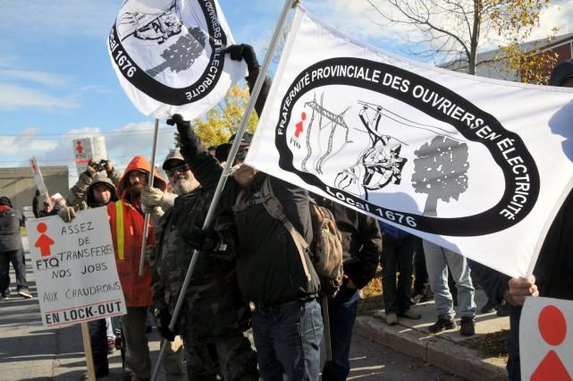Plus d'une centaine d'élagueurs syndiqués de la Fraternité provinciale des... (Photo collaboration spéciale Éric Beaupré)