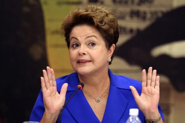 La présidente sortanteDilma Rousseff... (PHOTO EVARISTO SA, AFP)
