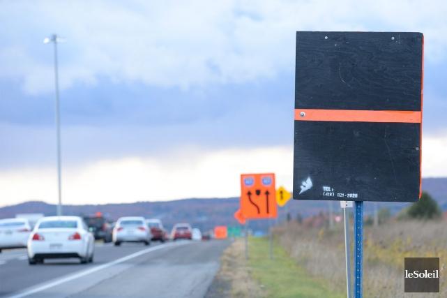 Le chantier de l'autoroute Félix-Leclerc (40) à la... (Le Soleil, Jean-Marie Villeneuve)