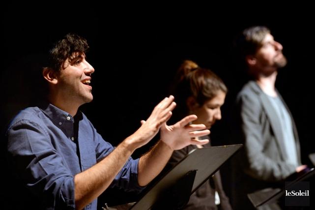 Mustapha Aramis (gauche), Éva Saïda et Nicola-FrankVachon nous... (Le Soleil, Jean-Marie Villeneuve)