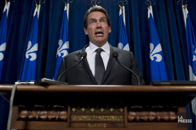 En commission parlementaire en juillet, Pierre Karl Péladeau... (PHOTO JACQUES BOISSINOT, LA PRESSE CANADIENNE)