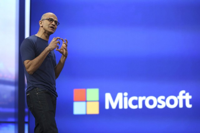 Le directeur général de Microsoft, Satya Nadella.... (Photo Robert Galbraith, Reuters)