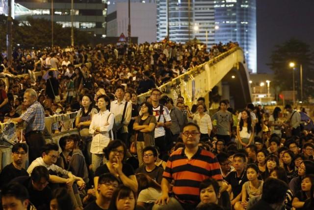Les contestataires, qui occupent toujours trois sites, mais... (PHOTO KIN CHEUNG, AP)