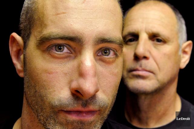 Benoit Ladouceur (a gauche), entraîné par la légende... (Martin Roy, archives LeDroit)