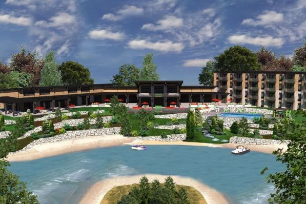 L'hôtel La Cache du Domaine s'élèvera au bord... (Illustration fournie par La cache du Domaine)