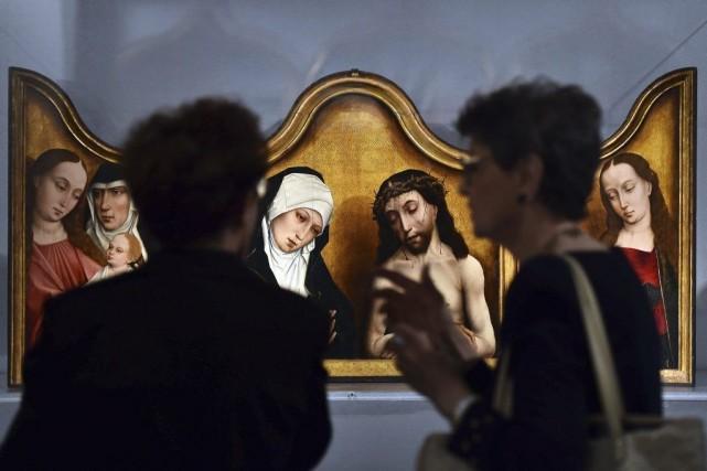 La première exposition entièrement consacrée au célèbre peintre flamand du XVe... (Photo: AFP)