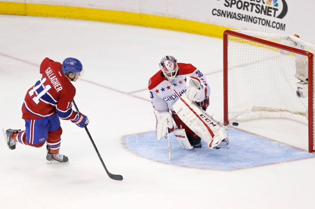 Brendan Gallagher a déjoué le gardien des Capitals... (Photo Geoff Burke, USA Today Sports)